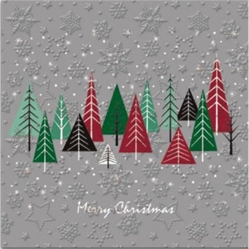20 stk Juleservietter med træ og sne