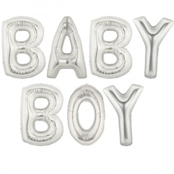 "Baby boy - tekst 16"" pakket i sæt"
