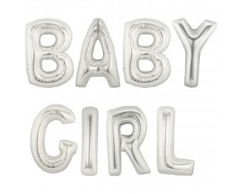 """Baby girl - tekst 16"""" pakket i sæt"""