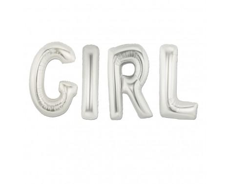 """Girl - tekst 16"""" pakket i sæt"""
