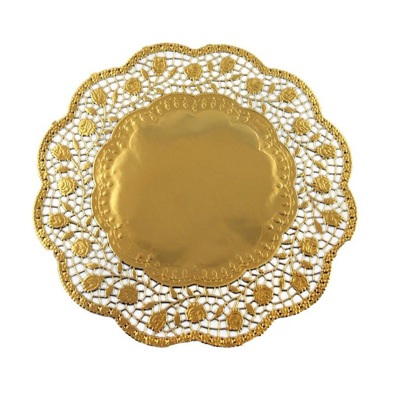 Image of   100 stk Kagepapir 30cm Guld