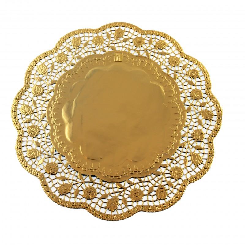 Image of   100 stk Kagepapir 36cm Guld