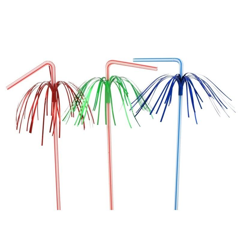 Billede af 50 stk Sugerør med palmer