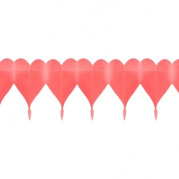 Guirlande af hjerter 4m Rød
