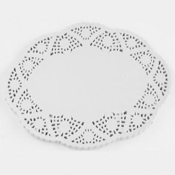 100 stk Kagepapir hvid oval 35x26cm