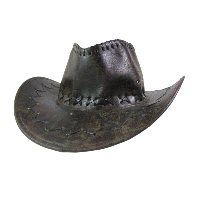 Cowboyhat brun læder