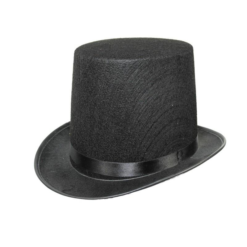 Sort hat 15cm høj