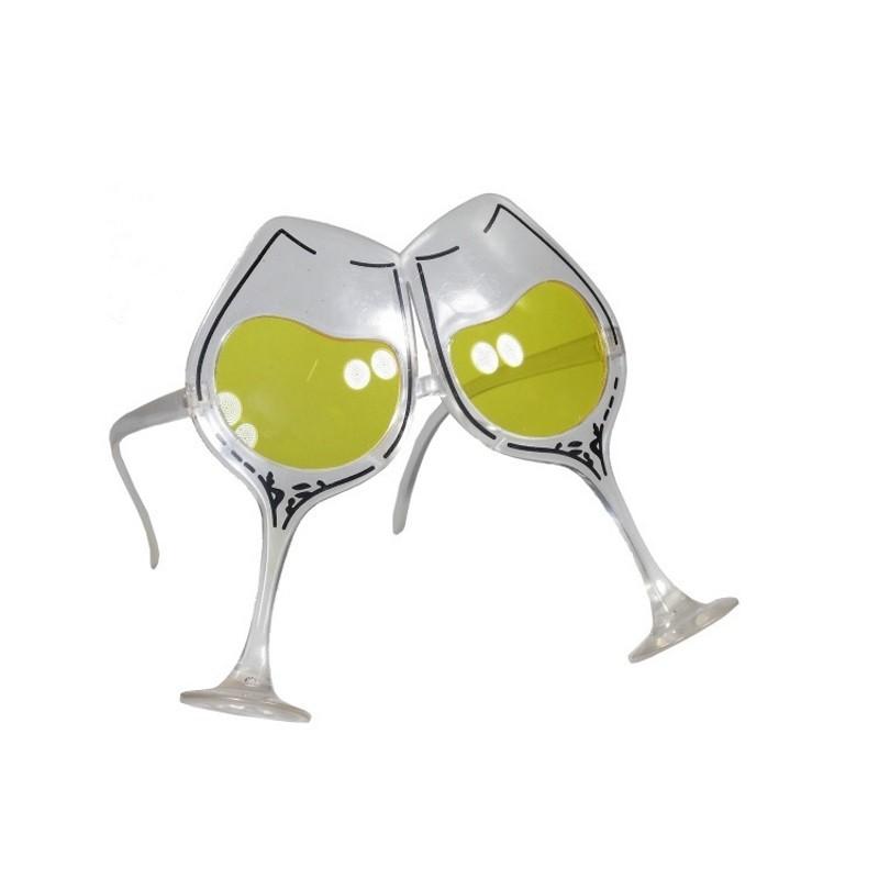 Festbrille med vinglas