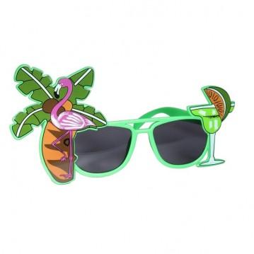 Solbriller med palmer og glas
