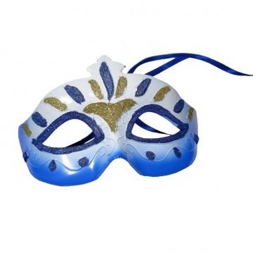 Blå maske til Karneval