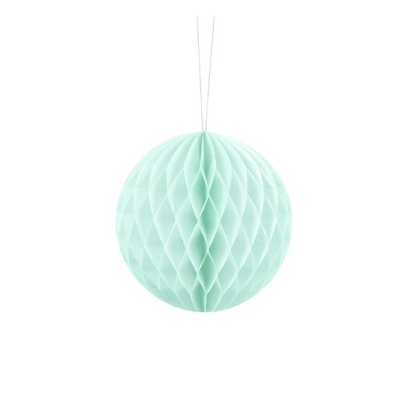 Billede af Lys mint honeycomb 10 cm - papir bikube