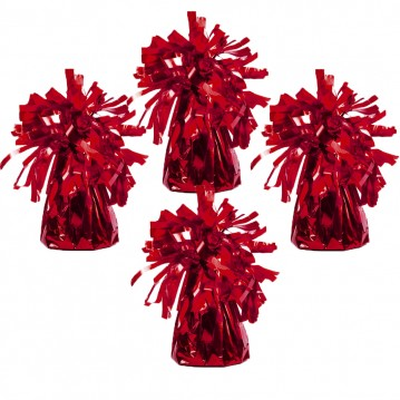 4 stk Ballonvægte rød