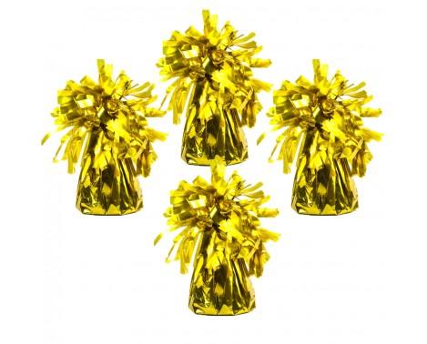 4 stk Ballonvægte guld