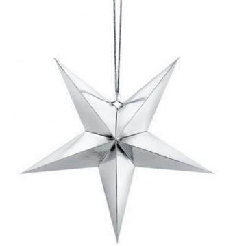 Papir stjerne sølv 70cm