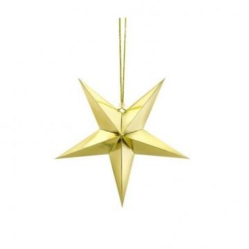 Papir stjerne guld 45cm