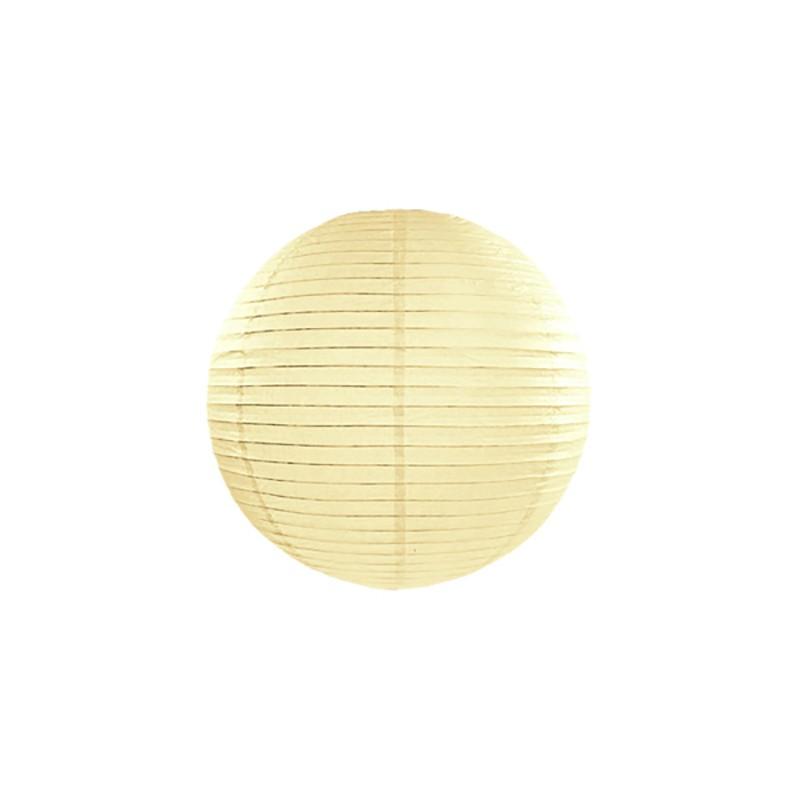 Rispapirlampe Creme 20 cm