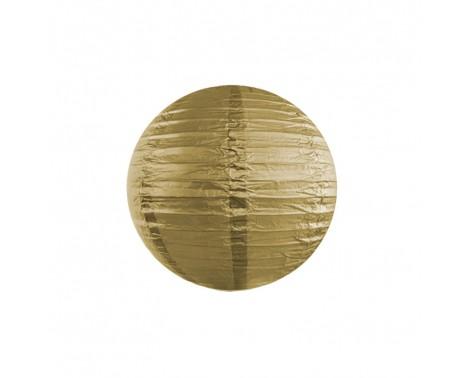 Rispapirlampe Guld 25 cm