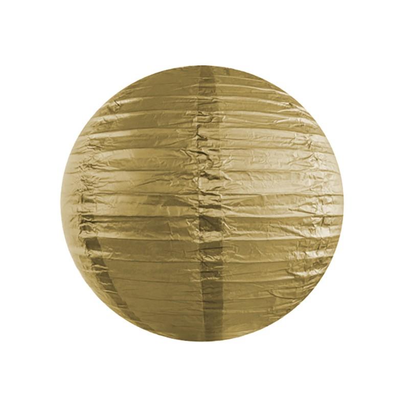 Rispapirlampe Guld 35 cm