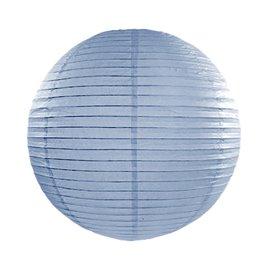Rispapirlampe Støvet blå 45 cm