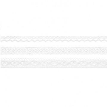 3 stk Blonde bånd 1,5m Hvid