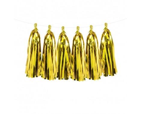 Guirlande med guld kvaster