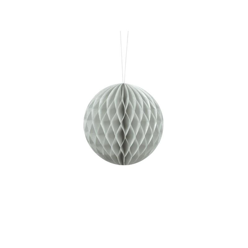 Billede af Lys grå honeycomb 10 cm - papir bikube