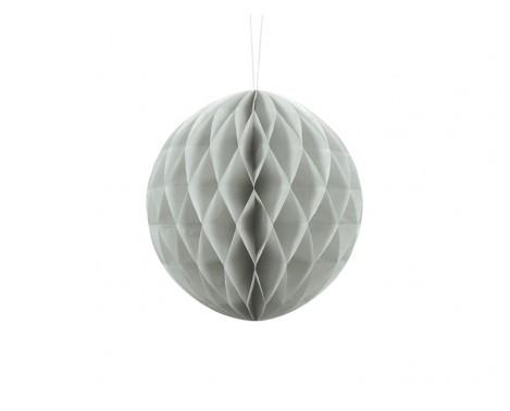 Lys grå honeycomb 20 cm - papir bikube