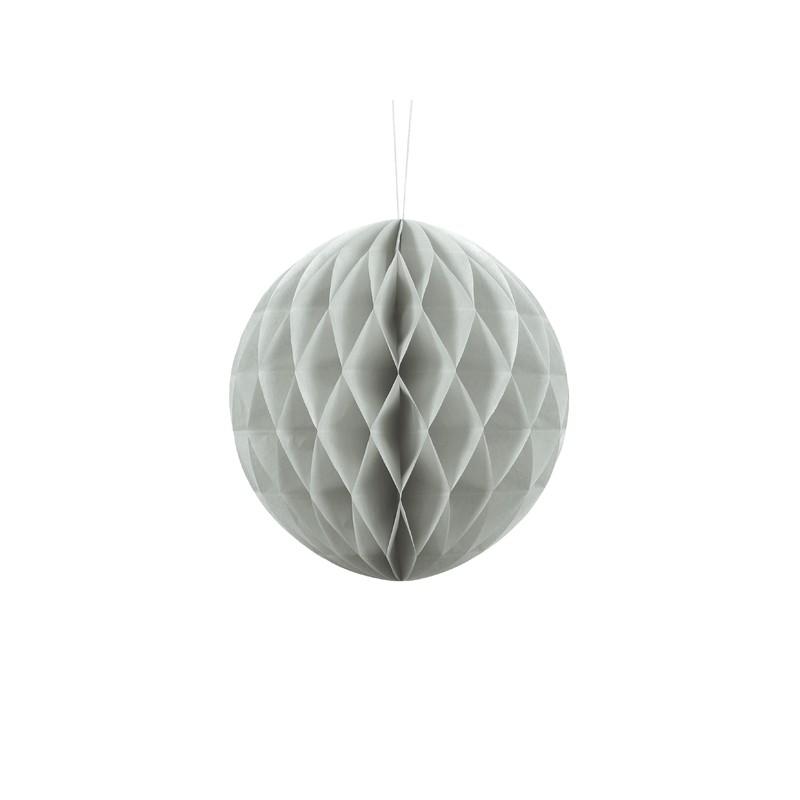 Billede af Lys grå honeycomb 20 cm - papir bikube
