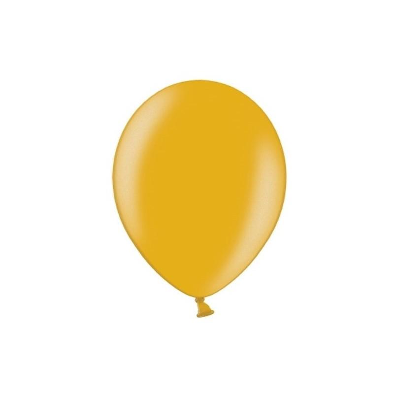 "10 stk Metallic guld balloner - str 12"""