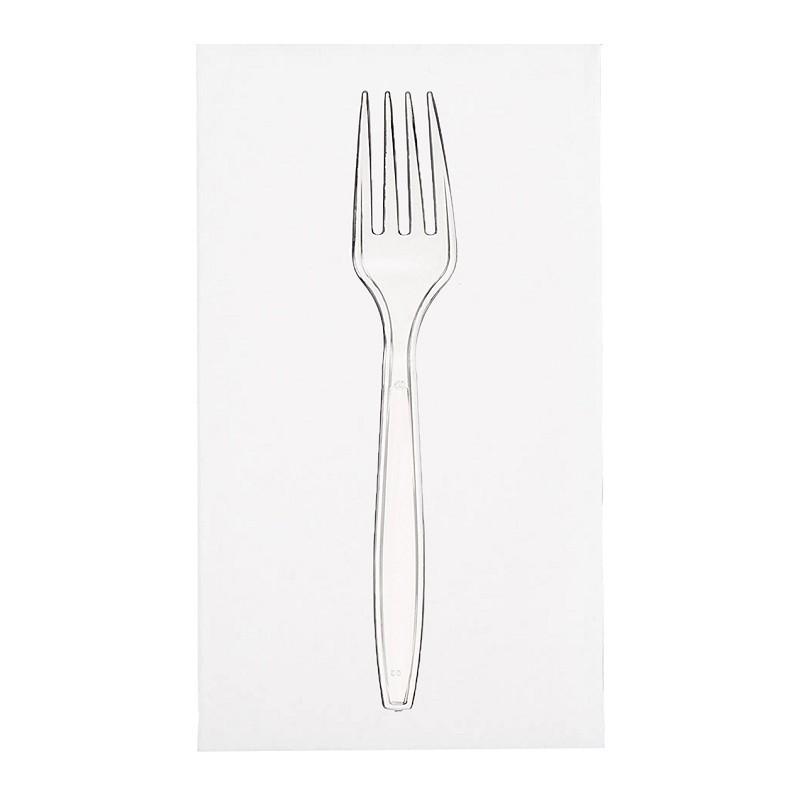 Bestiksæt med serviet med klar gaffel