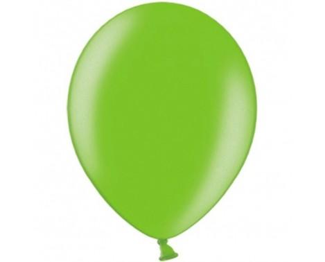 """20 stk Metallic limegrøn balloner - str 10"""""""