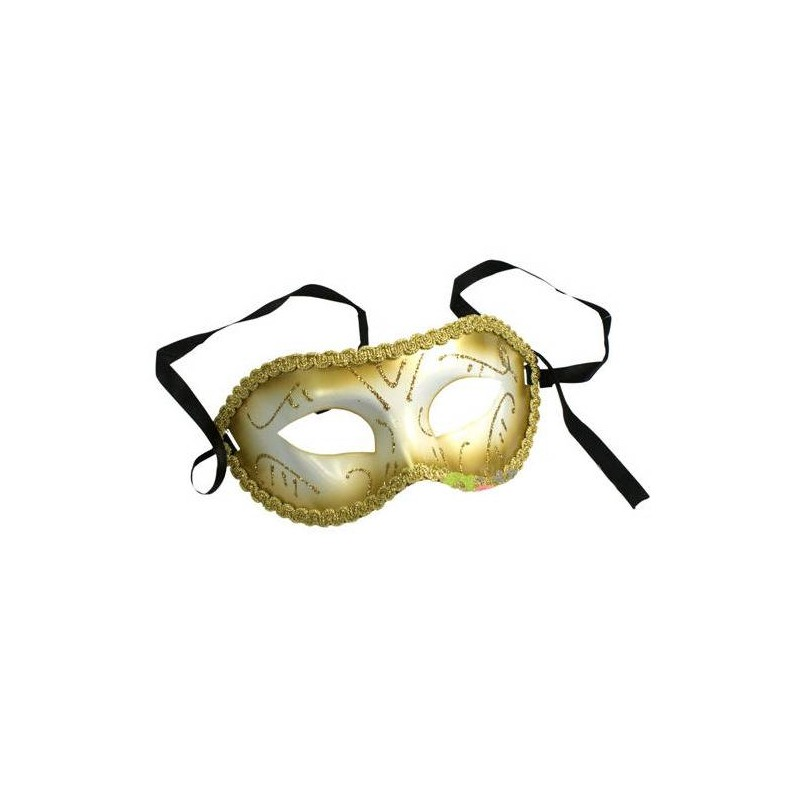 Maske med brokadebånd