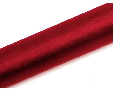 Organza Rød 0,16 x 9 meter - glat silkelook