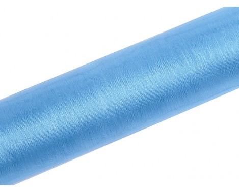Organza Himmelblå 0,16 x 9 meter - glat silkelook