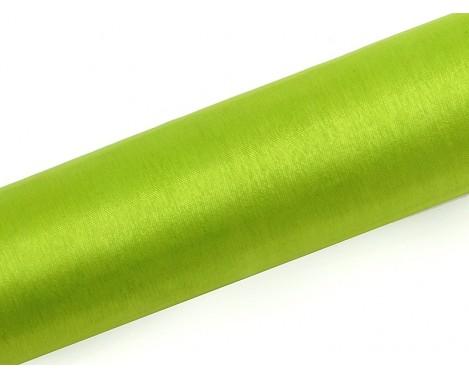 Organza Limegrøn 0,16 x 9 meter - glat silkelook