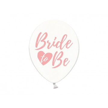 """6 stk Balloner - Bride to be 12"""""""