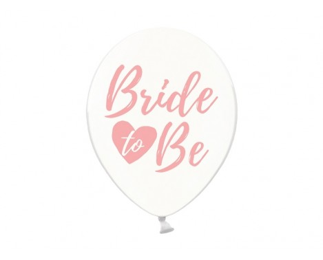 6 stk Balloner - Bride to be 12""