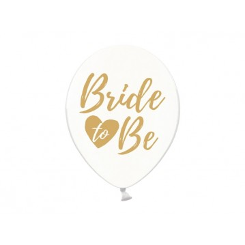 6 stk Krystal klar balloner - Bride to be 12""