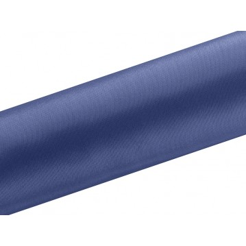 Satin stof i Mørkeblå - 0,16 x 9 meter