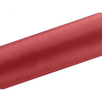 Satin stof i Rød - 0,16 x 9 meter