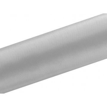 Satin stof i Sølv - 16 cm x 9 meter
