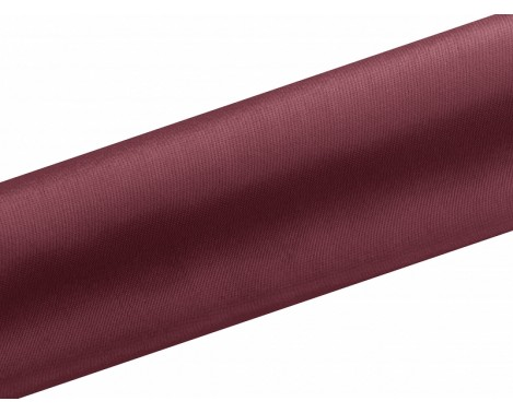 Satin stof i Bordeaux - 16 cm x 9 meter