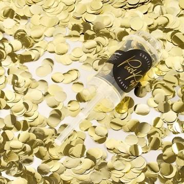 Push up confetti - Guld