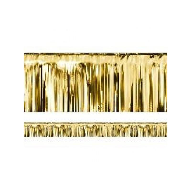 Guld Lametta forhæng 18,5cm x 4 meter