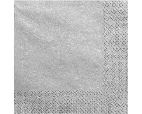 20 stk Sølv servietter