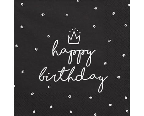 20 stk Happy Birthday servietter