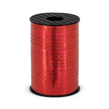 225 meter Gavebånd Rød metallic 5mm bred