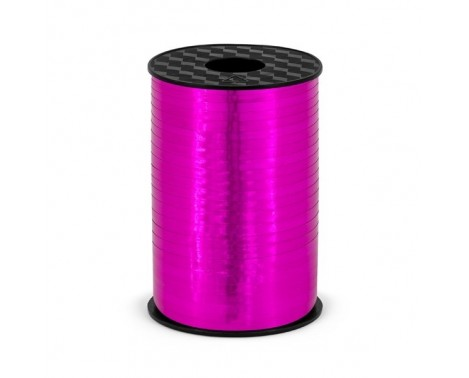 225 meter Gavebånd Mørk pink metallic 5mm bred