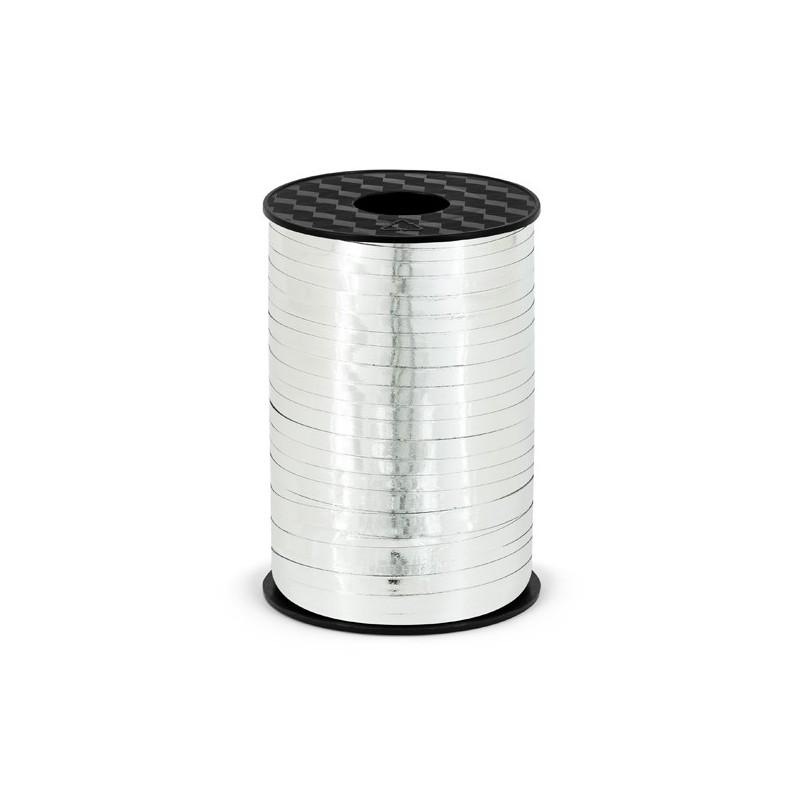 225 meter Gavebånd sølv metallic 5mm bred