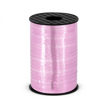 225 meter Gavebånd lyserød metallic 5mm bred